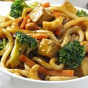 Tofu and Cashew Chow Mein  